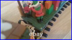 1997 New Bright #380 The Holiday Express Animated Train Set G Scale