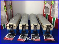 (4) Lot Set- LGB Passenger Coach Car MOB Train Set 35670 Metal Wheels Lighted