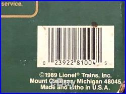 8-81004 Lionel North Pole Train set Runs Great, Complete withSanta & Box G scale