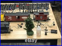 Bachmann 2 loose train sets, Santa Fe Set and B & O (Royal Blue Line)