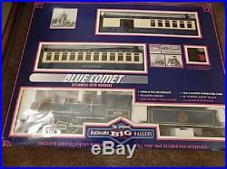 Bachmann Big Hauler Blue Comet G Scale Train Set Steam Locomotive + Cars
