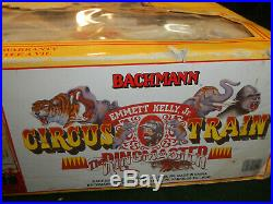 Bachmann Emmett Kelly Jr Circus Train Set The Ringmaster #90020 Complete G Scale