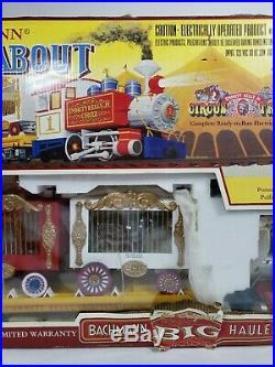 Bachmann Roustabout Circus G Scale Electric Train Set #90019 New Open Box