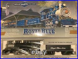 Bachmann Royal Blue B&O Locomotive Big Haulers G Scale 4-6-0 Train Set Complete