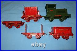 Buddy L Industrial Railroad 5 Piece Train Set. Circa 1929-32