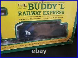 Buddy L Railway Express Train Set G Scale Diecast Engine Tender Box Car Lot of 5