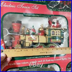 Christmas Holiday Express Electric Train Set model No 980 Santa Claus Xmas 1998