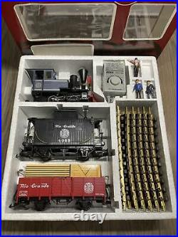 Excellent Condition LGB 20087 Rio Grande Train Set G Scale, Tested Working