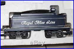 G Scale Bachmann Royal Blue Line Steam Locomotive Train Set #90016