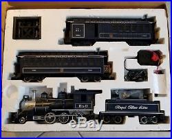 G Scale Bachmann Royal Blue Steam Locomotive Train Set #90016