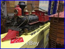 G-gauge train set C-16 loco LGB railroad cars transformer track and buildings