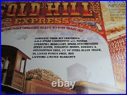 G scale Bachmann Big Haulers Gold Hill Express Complete Train set lighted smoke