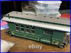 G scale trains, USA Trains, Passenger Car Set Of Four. Colorado & Southern