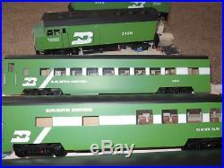 Great Trains 1 Gauge Burlington Northern F40 Passenger Set New