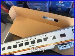 Great Trains G Santa Fe 5 Car Set 1-Diner, 3 Different # Coaches, 1- Observation
