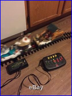 HOLIDAY EXPRESS Animated Christmas Train Set NEW BRIGHT 387 G Scale Lights Music