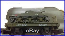 Hartland Locomotive Works 3rd Brigade G Scale Army Military Train Set Boxed #2
