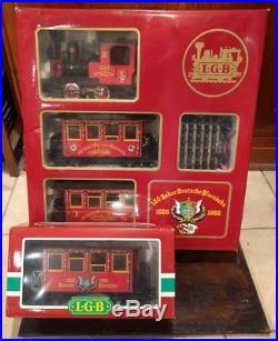 LGB 150 Jahre Deutsche Eisenbahn 1835-1985 G Gauge Train Set with3150 Wappenwagen