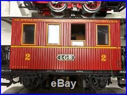 LGB 20301BP (Buffalo Pass) train set with 2 extra cars