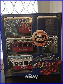 LGB 20540 Christmas Train G Scale Rare Vintage Set In Original Box Toy w Track