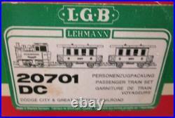 LGB 20701DC Dodge City & Great Western G Gauge Steam Starter Train Set EX/Box
