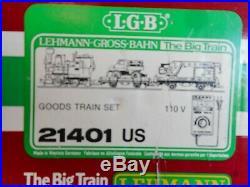 LGB 21401 US Goods Train Set Complete withOriginal Box-Excellent Condition