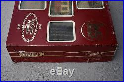 LGB 21981 G Scale 100th Anniversary Train Set Loco, 2 Cars and Brass Track