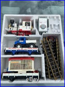 LGB #21988US CIRCUS TRAIN, 7-Pc SET G-SCALE withTransformer & Box