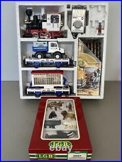 LGB 21988 Circus Train Starter Set & FREE Figurine Set VINTAGE & RARE G Scale