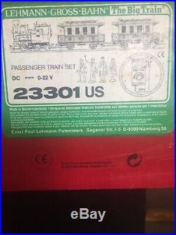 LGB 23301 PASSENGER TRAIN SET THE BIG TRAIN LEHMANN GROSS BAHN, in original box