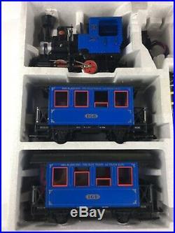 LGB 2774 Ready Run Set LGB TRAIN SET The Blue Train DER BLAZE ZUG LE TRAIN Bleu