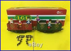 LGB 31440 CHRISTMAS Holiday Gondola Passenger Observation TRAIN CAR FIGURES SET