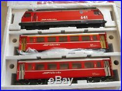 LGB 70642 RhB Luxury Train Set Limited Edition Glacier Express 30th Ann. G Scale
