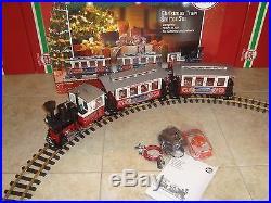 LGB 72304 CHRISTMAS PASSENGER TRAIN STARTER SET WithSMOKE! COMPLETE & NEW IN BOX