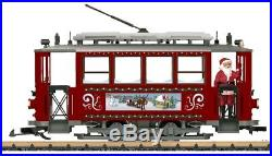 LGB 72351 Christmas Trolley Starter Set G Scale Train Complete NEW