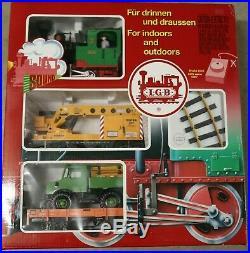 LGB 72402 G Scale Work Train Set LOCO 2 Cars and Transformer