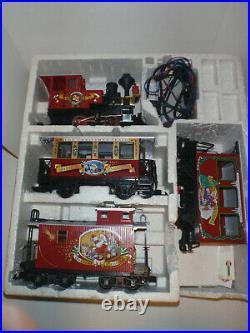 LGB 72550 CHRISTMAS HOLIDAY RED TRAIN SET RARE SET for Repair