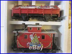 Lgb 72555 Christmas Santa Caboose Train Set