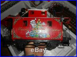 LGB 72555 Christmas Santa Caboose Train Set in Box G Scale