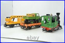 LGB G Gauge 78402 Starter Train Set with Stainz Steam Loco, Crane and Wagon