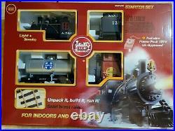 LGB G SCALE Santa Fe Freight Train Starter Set #72423 Engine, Track