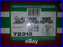 LGB G Scale #72312 LG&B Lake George & Boulder Passenger Train Complete Set