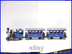LGB (Lehmann) G Scale The Blue Train Anniversary 3 p. C. Train Set No. 20301