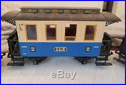 LGB Passenger Train Set 20301US green loco red & blue cars The Big Original BOX