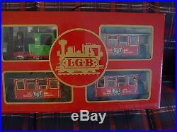LGB (The Big Train)set of engine w. 3 passenger cars
