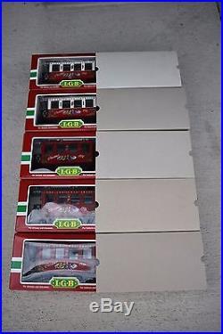 LGB The Christmas Train Passenger Car Set 1995 1996 1997 1998 1999