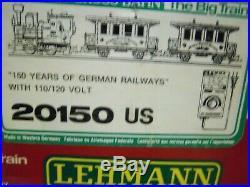 Lgb 150 Jahre Deutsche Gisenbahn Anniversary Train Set # 20150