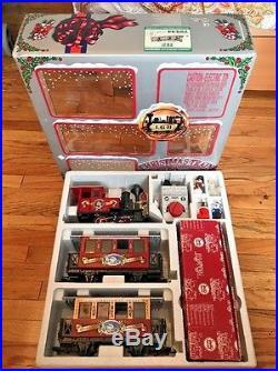 Lgb 72534 Christmas Santa Passenger Train Set With Smoke