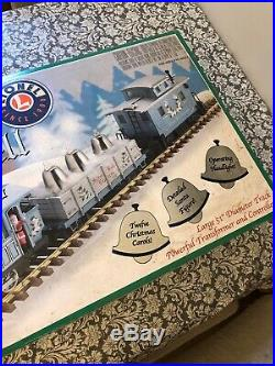 Lionel 8-81024 Silver Bell Express Train Set G Scale Locomotive Christmas Rare