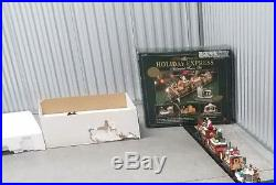 NEW BRIGHT THE HOLIDAY EXPRESS ANIMATED TRAIN #387 Christmas Train Set G SCALE